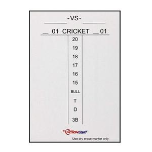 Tableau des scores magnétique effaçable pour le Cricket