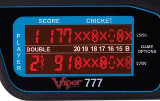 Zone d'affichage Cricket - Cible Viper 777