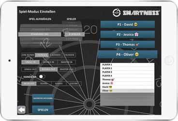 Application Smartness jeu de fléchette en ligne